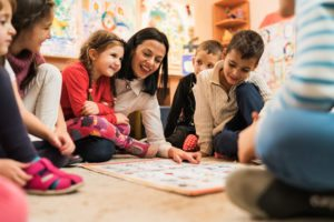Preschool teacher with students- Lake County, OH- Little Scholars Early Learning Center